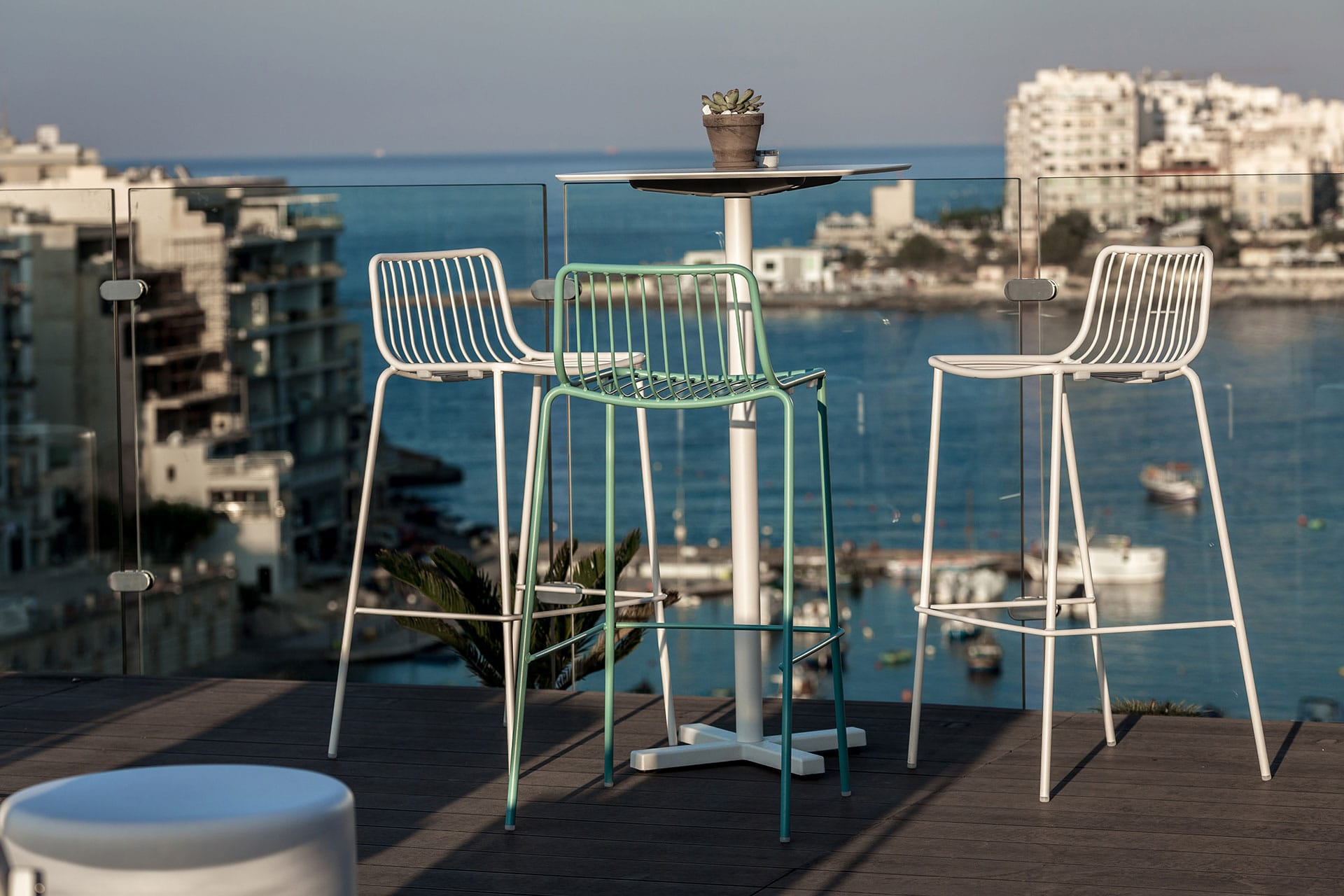 Bar Table for drinks over looking Spinola Bay
